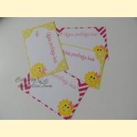 """Palinkėjimų-Pažadų kortelės """"Saulytė"""""""