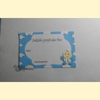 """Palinkėjimų-Pažadų kortelės """"Angeliukas M"""""""