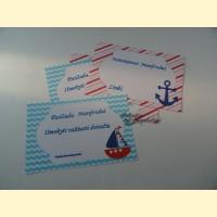 """Palinkėjimų-Pažadų kortelės """"Mažasis Jūreivis"""""""