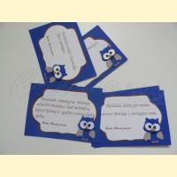 """Palinkėjimų-Pažadų kortelės """"Pelėdžiukas 2"""""""