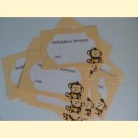 """Palinkėjimų-Pažadų kortelės """"Beždžioniukas"""""""