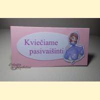 """Stalo kortelės """"Princesė kviečia"""""""