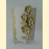"""Atvirutė """"Gėlių puokštė"""" (auksinė)"""
