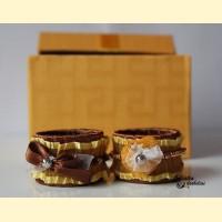 Servetėlių žiedai, rudi