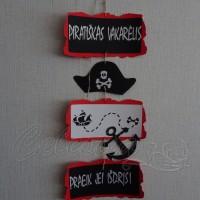 Pakabinama dekoracija Piratų šventei