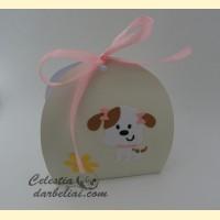 Dėžutė dovanėlei su šuniuku 1