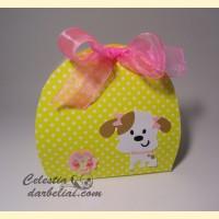 Dėžutė dovanėlei su šuniuku 2