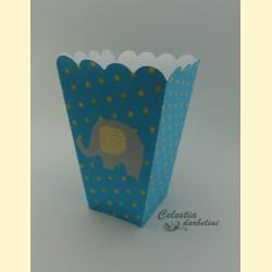 """Dėžutė spragėsiams """"Mėlynasis drambliukas"""""""
