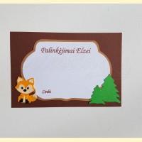 """Palinkėjimų-Pažadų kortelės """"Miško šventė"""""""