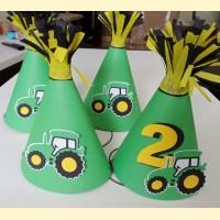 """Kepuraitės gimtadieniui """"Traktoriukas"""""""