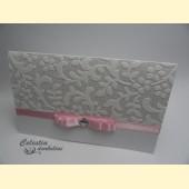 """Kvietimas """"Graži šventė"""" su rožine juostele"""