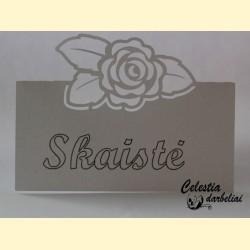 """Stalo kortelė """"Rožė"""""""